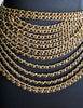 Chanel Vintage Runway Black/Gold Multi-Strand Chain Belt - Amarcord Vintage Fashion  - 4