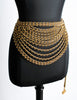 Chanel Vintage Runway Black/Gold Multi-Strand Chain Belt - Amarcord Vintage Fashion  - 2
