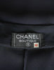 Chanel Vintage Navy Blue Silk Chiffon Dress - Amarcord Vintage Fashion  - 8