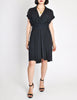 Chanel Vintage Navy Blue Silk Chiffon Dress - Amarcord Vintage Fashion  - 2