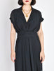 Chanel Vintage Navy Blue Silk Chiffon Dress - Amarcord Vintage Fashion  - 3