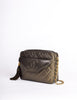 Chanel Vintage Green Metallic Lambskin Quilted Tassel Bag