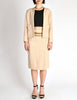 Chanel Vintage Pale Tan Wool Two-Piece Suit - Amarcord Vintage Fashion  - 2