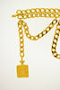 Chanel Vintage Gold Chain Perfume Bottle Belt
