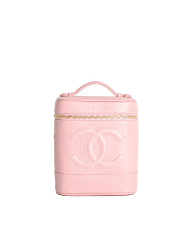Chanel Vintage Baby Pink Cosmetic Case