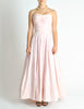 Chanel Vintage Pink & White Striped Raw Silk Gown Dress - Amarcord Vintage Fashion  - 5
