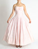 Chanel Vintage Pink & White Striped Raw Silk Gown Dress - Amarcord Vintage Fashion  - 3