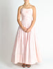 Chanel Vintage Pink & White Striped Raw Silk Gown Dress - Amarcord Vintage Fashion  - 2