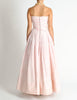 Chanel Vintage Pink & White Striped Raw Silk Gown Dress - Amarcord Vintage Fashion  - 7
