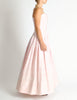 Chanel Vintage Pink & White Striped Raw Silk Gown Dress - Amarcord Vintage Fashion  - 8