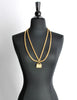 Chanel Vintage Gold Quilted Handbag Necklace - Amarcord Vintage Fashion  - 3