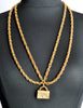 Chanel Vintage Gold Quilted Handbag Necklace - Amarcord Vintage Fashion  - 4