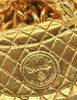 Chanel Vintage Gold Quilted Handbag Necklace - Amarcord Vintage Fashion  - 5