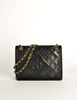 Chanel Vintage Black Lambskin Leather Quilted CC Logo Bag - Amarcord Vintage Fashion  - 2