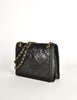 Chanel Vintage Black Lambskin Leather Quilted CC Logo Bag - Amarcord Vintage Fashion  - 3
