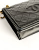 Chanel Vintage Black Lambskin Leather Quilted CC Logo Bag - Amarcord Vintage Fashion  - 7