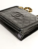 Chanel Vintage Black Lambskin Leather Quilted CC Logo Bag - Amarcord Vintage Fashion  - 8