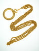 Chanel Vintage Gold Rhinestone Magnifying Glass Loupe Necklace - Amarcord Vintage Fashion  - 5