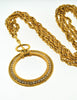 Chanel Vintage Gold Rhinestone Magnifying Glass Loupe Necklace - Amarcord Vintage Fashion  - 7