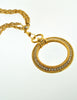 Chanel Vintage Gold Rhinestone Magnifying Glass Loupe Necklace - Amarcord Vintage Fashion  - 6