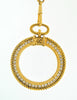 Chanel Vintage Gold Rhinestone Magnifying Glass Loupe Necklace - Amarcord Vintage Fashion  - 4