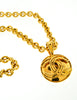 Chanel Vintage Gold CC Logo Pendant Necklace - Amarcord Vintage Fashion  - 4