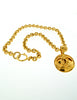 Chanel Vintage Gold CC Logo Pendant Necklace - Amarcord Vintage Fashion  - 5