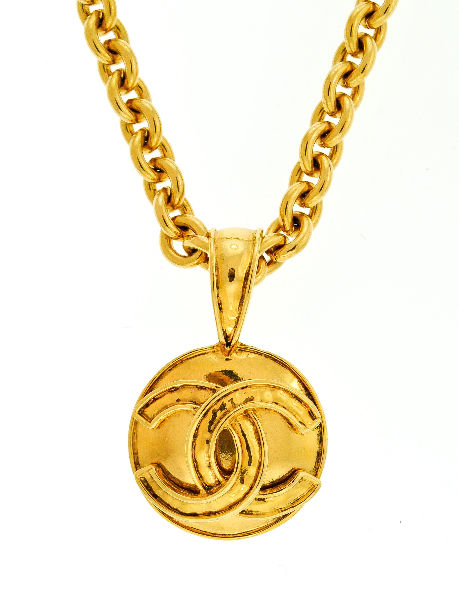 f088c66936847a Chanel Vintage Gold CC Logo Pendant Necklace - Amarcord Vintage Fashion - 2
