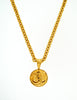 Chanel Vintage Gold CC Logo Pendant Necklace - Amarcord Vintage Fashion  - 7