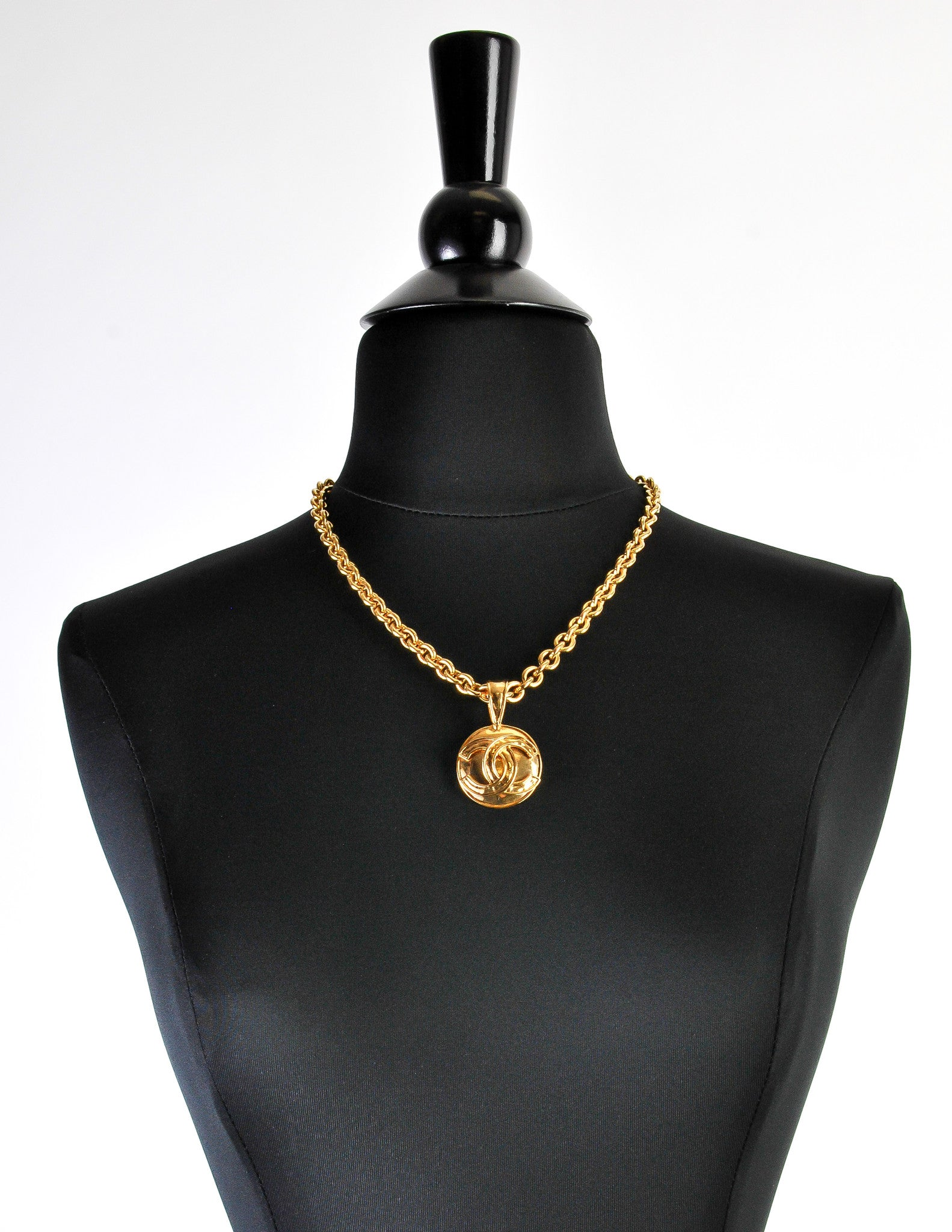 Chanel vintage gold cc logo pendant necklace from amarcord vintage chanel vintage gold cc logo pendant necklace amarcord vintage fashion 3 aloadofball Image collections