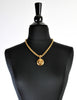 Chanel Vintage Gold CC Logo Pendant Necklace - Amarcord Vintage Fashion  - 3