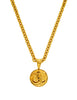 Chanel Vintage Gold CC Logo Pendant Necklace - Amarcord Vintage Fashion  - 1
