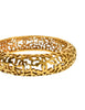 Chanel Vintage Gold Cut Out Swirl Bracelet