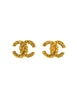 Chanel Vintage Textured CC Logo Earrings