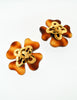 Chanel Vintage Tortoise Clover Earrings - Amarcord Vintage Fashion  - 2