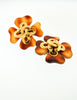 Chanel Vintage Tortoise Clover Earrings - Amarcord Vintage Fashion  - 3