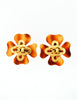 Chanel Vintage Tortoise Clover Earrings - Amarcord Vintage Fashion  - 4