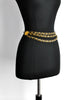 Chanel Vintage Black & Gold Triple Row Chain Belt - Amarcord Vintage Fashion  - 3