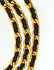 Chanel Vintage Black & Gold Triple Row Chain Belt - Amarcord Vintage Fashion  - 5