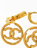 Chanel Vintage Gold Twisted CC Logo Dangle Earrings - Amarcord Vintage Fashion  - 7