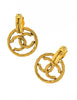 Chanel Vintage Gold Twisted CC Logo Dangle Earrings - Amarcord Vintage Fashion  - 4
