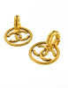 Chanel Vintage Gold Twisted CC Logo Dangle Earrings - Amarcord Vintage Fashion  - 3