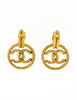 Chanel Vintage Gold Twisted CC Logo Dangle Earrings - Amarcord Vintage Fashion  - 5
