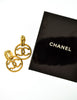 Chanel Vintage Gold Twisted CC Logo Dangle Earrings - Amarcord Vintage Fashion  - 8