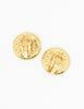 Chanel Vintage Gold CC Logo Earrings - Amarcord Vintage Fashion  - 4