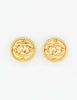 Chanel Vintage Gold CC Logo Earrings - Amarcord Vintage Fashion  - 2