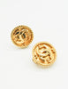 Chanel Vintage Gold CC Logo Earrings - Amarcord Vintage Fashion  - 3