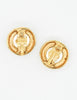 Chanel Vintage Gold Pearl CC Logo Birds Nest Earrings - Amarcord Vintage Fashion  - 5