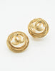 Chanel Vintage Gold Pearl CC Logo Birds Nest Earrings - Amarcord Vintage Fashion  - 3