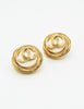 Chanel Vintage Gold Pearl CC Logo Birds Nest Earrings - Amarcord Vintage Fashion  - 4